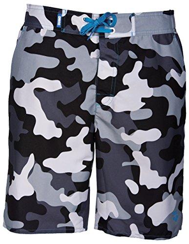 ARENA Camouflage Long Bermuda Costume da Bagno, Nero, Uomo, M