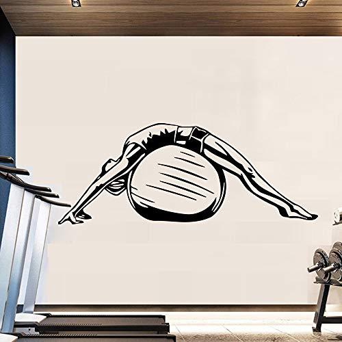 Pegatinas de pared de yoga decoración del hogar accesorios de habitación de niños DIY decoración del hogar pegatinas de pared impermeables A7 57x22cm