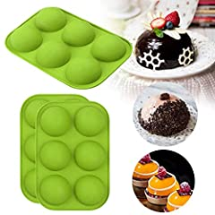 Made of high quality food-grade silicone, which is non-toxic, non odor, non sticky, soft and durable to use, smooth in texture, easy to use and clean, will serve you long time. Easy Baking And Release: Non-stick surface and flexible,just pop out with...
