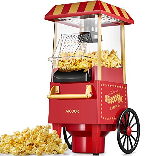 Aicook Machine à Pop Corn, 1200W Retro Machine à...