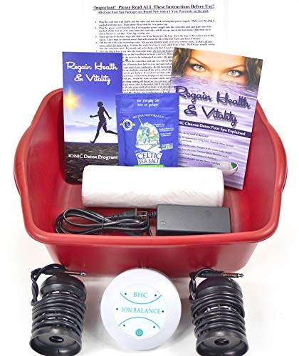 Ionic Cleanse Detox Ionic Foot Bath Spa Chi Cleanse Unit for Home Use. Foot Spa Affordable Detox Foot Spa Machine with Free Booklet and Brochure, Regain Health & Vitality