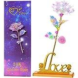 24K Gold Rose Light Gifts for Mom Grandma, Rose Flower Lights...