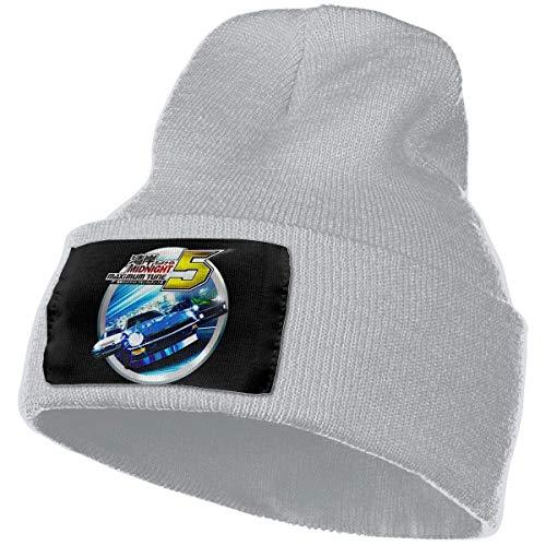 AOOEDM Hombres y mujeres Wangan Midnight Maximum Tune 5 Skull Beanie Sombreros Gorros de punto de invierno Sombrero de esquí suave y cálido Negro