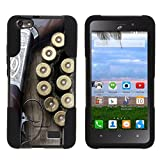 MINITURTLE Compatible with Huawei Raven LTE High Impact Silicone Gel and PC [Strike Impact] w/Stand Phone Case Hunting Shotgun w/Ammo