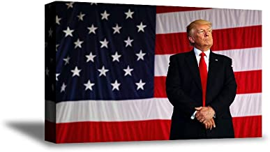 Awkward Styles Donald Trump Canvas Art Poster American Flag Trump Portrait Decor USA Gifts President Art Iconic Style 8