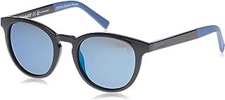 نظارات شمسية بتصميم بيضاوي بلون اسود لامع/ رمادي داكن بعدسات مستقطبة للضوء للرجال من تيمبرلاند - 19307221