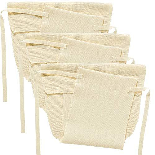 Disana 1110103 - Strickwindel 3er-Pack Baumwolle natur