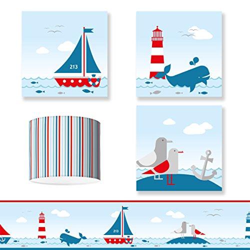 'pour chambre d'enfant Design Sailing Red \