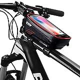 Fasttrade - Bolsa para cuadro o manillar para todas las bicicletas, pantalla táctil y porta móvil, impermeable, para smartphone, para iPhone 12 XS/X/Samsung S9/S8/S10/S11 hasta 6,5