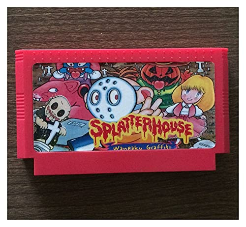fleeting time GaoHR Splatter House 60 Pin Tarjeta de Juego Fit for 8 bit Subor Game Player HR (Color : Yellow)