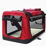 Jaula de perro Cajón rojo plegable perro suave, interior y exterior Pet Home coche perrera excursión bolsa de transporte de equipaje for mascotas Perrito y animales pequeños. ( Size : XL )