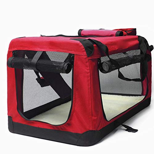 NYKK Dog cage Dog cage Kit Red Folding Soft Dog Crate, Indoor & Outdoor Pet Home Car Kennel Outing Carrying Bag Pet Luggage Kennel Cage Kennel (Size : S)