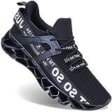 UMYOGO Mens Athletic Walking Blade Running Tennis Shoes Fashion Sneakers (9 M US, 1-Black)