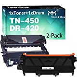 MM MUCH & MORE Compatible TN450 TN-450 Toner Cartridge & DR420 TN420 Drum Unit Replacement for Brother HL-2270DW HL-2280DW HL-2230 HL-2240 MFC-7360N MFC-7860DW Printers (2-Pack, 1 x Toner + 1 x Drum)