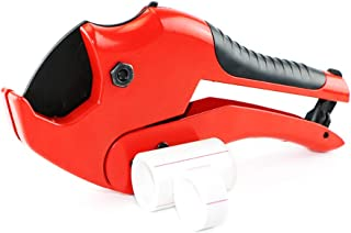 PVC Cutter Pipe Cutter, Tube Cutter for Cutting PEX, PVC and PPR Pipe, Plastic Tubing Cutter Ideal for Plumbers, Home Handy Man and More