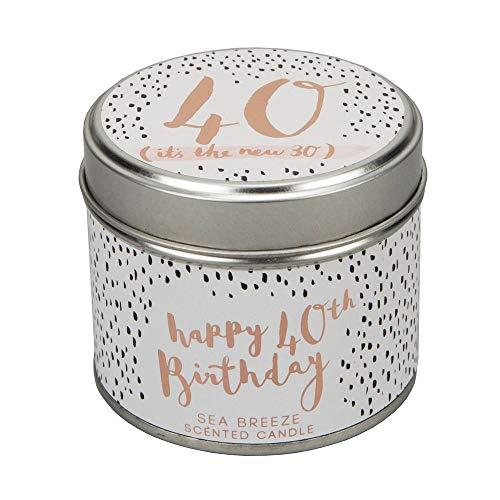 Luxe 40e verjaardag geurkaars (40 het is de nieuwe 30) 35 uur brandtijd