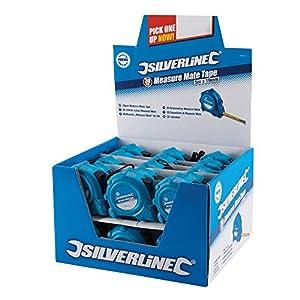51ZTiV7WbVL. SS300  - Silverline 868620 Caja Expositora con Flexómetros Measure Mate, 5 m Longitud, 19 mm Diámetro, 30 Piezas