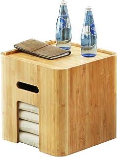 Tables HAIZHEN Pliable Basse en Bambou avec 4 Coussins pour Baie vitrée, Balcon et Salle de séjour Stations de Travail inf...