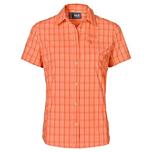 Jack Wolfskin Damen centaura Stretch Vent Shirt XS Papaya Checks