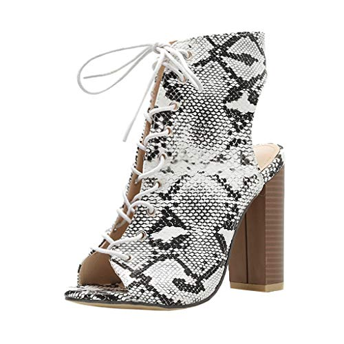 Buy Discount Xinantime Womens Summer Shoes Party Sexy Bnadage Serpentine Printing High Heeled Sandal...