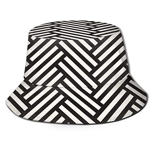 Sombrero de Pescador Unisex Vector de Patrones sin Fisuras Textura con Estilo Moderno Plegable De Sol/UV Gorra Protección para Playa Viaje Senderismo Camping
