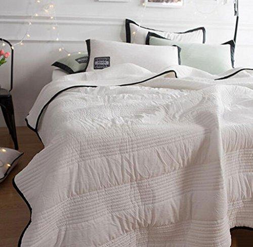 Kelly' Harvest House Comfort Luxury Lightweight Juego de Colcha de 3 Piezas Colcha de la Colcha Juego de Colcha con Fundas (Color : Blanco, Tamaño : Twin)
