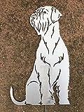 Terma Stahldesign Riesenschnauzer höhe 30 cm, Edelrost Hund, Gartenfigur, Rost Figur