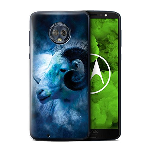 Stuff4 telefoonhoesje/hoes voor Motorola Moto G6 Plus 2018/Aries/Ram Design/Zodiac Star Sign Collection