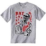 Photo de teesquare1st Men's Ray Charles Jazz Grey T-Shirt Size XXLarge