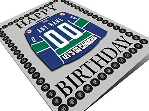 NHL Ice Hockey Jersey Kühlschrank Magnet Geburtstag Karten–NHL Western Conference–Jeder Name, beliebige, jedes Team, Herren, Vancouver Canucks NHL Fridge Magnet Card