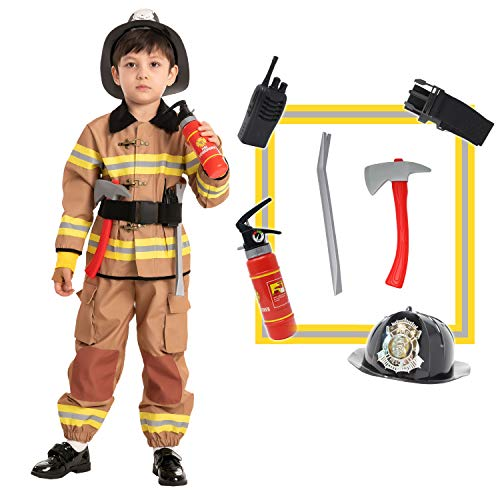 Spooktacular Creations Child Unisex Fireman Costume (Toddler (3-4yr)) Yellow