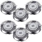Cabezales Reemplazos de Afeitadora Eléctrica de Hombres Piezas de Corte Cuchillas Rotativas Compatible con Philips HQ8 PT720 PT725 PT860 HQ7310 HQ6070 HQ6090 AT890 AT899 AT750 (6 Piezas)