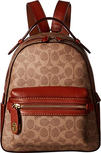 COACH Campus Backpack 23 in Coated Canvas Signature B4/Tan Rust One Size