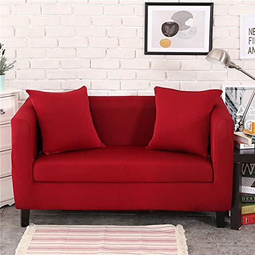 Soffskydd soffa möbelskydd husdjursskydd halkfri fläckbeständig maskintvättbar möbelskydd moderna hörn soffskydd, enfärgat, röd, 3 sits: 190–230 cm