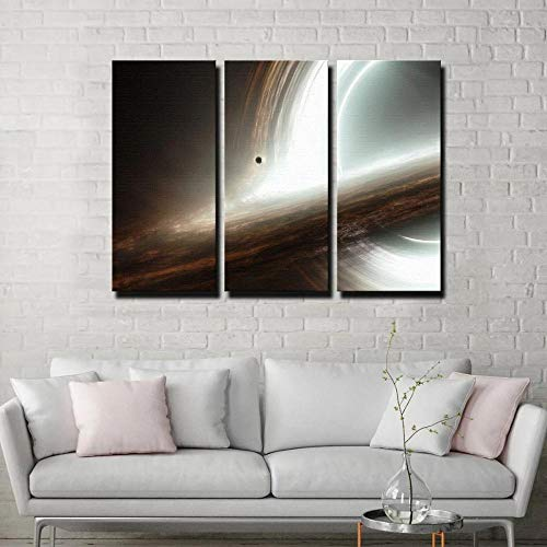 KOPASD Arts – 3 Piezas de Lienzo de Arte de Pared Espacio Galaxy Universo Planeta Roaming Cuadros de Lienzo Moderno Giclée para decoración del hogar (tamaño Grande 30x50x3cm)