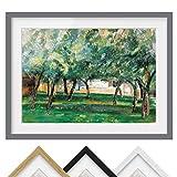 Bild mit Rahmen - Paul Cézanne - Gehöft Normandie - Farbe
