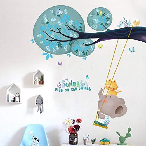 GUDOJK Muursticker spelen op de schommels muur Stickers voor kinderen kamer Animal Muursticker Kinderen kamer Baby Kwekerij Home Decoratie