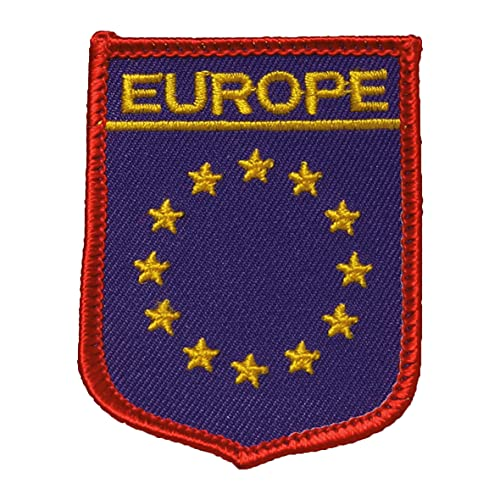 Parche bordado para planchar o coser, diseño de bandera de Europa