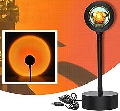 Sunset Aura Lamp, zonsondergang projectielamp, 360° rotatie zonsondergang projectie romantische visuele sfeerlamp voor fam...