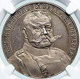 1914 DE 1914 GERMANY 2nd President Paul von Hindenburg AR coin MS 63 NGC