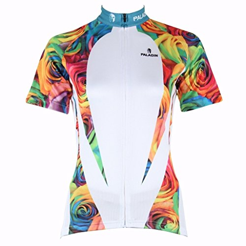 PaladinSport Women's Short Sleeve Mountain Bike Clothing Top 100% Polyester Asian Size M