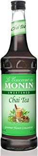 Monin - Chai Tea Concentrate, Spiced Green Tea Flavor, Natural Flavors, Great for Spiced Chai Teas, Coffee Drinks, Dessert Cocktails, and Other Culinary Creations, Vegan, Non-GMO, Gluten-Free (750 ml)