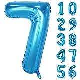 GRESAHOM Globos de números de 101,6 cm, globos de helio gigante, número 7, globos de cumpleaños para fiestas de cumpleaños