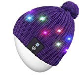 Rotibox Strickmütze mit LED-Beleuchtung, ideal als Geschenk für Männer und Frauen, für Festivals, Urlaub, Feier, Partys, Bar, Weihnachtsgeschenk, Damen Herren, LB008-Purple-String, One Size Fits Most