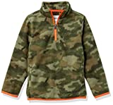 Amazon Essentials Quarter-Zip Polar Fleece Jacket Outerwear-Jackets, Camo Print, XS