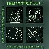 The De-Constructor Challenge: 4 Metal Brain Teaser Set...
