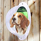 Pet Fence Dome Peek Bubble Window - for Dogs See Outside - Anxiety Bark Reliever - Durable Acrylic Plastic with Instructions and Hardware- Clear