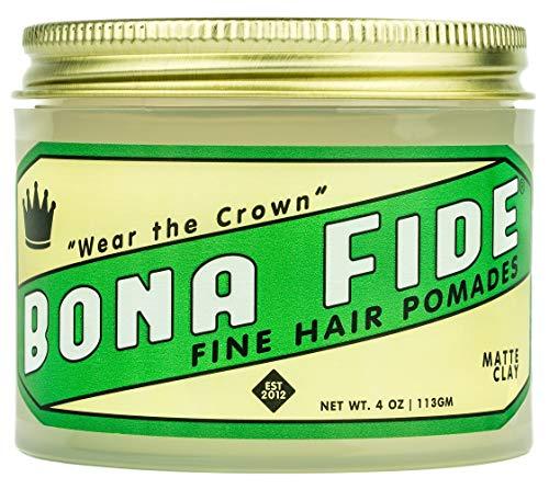 Bona Fide Pomade, Matte Clay, 4 oz.