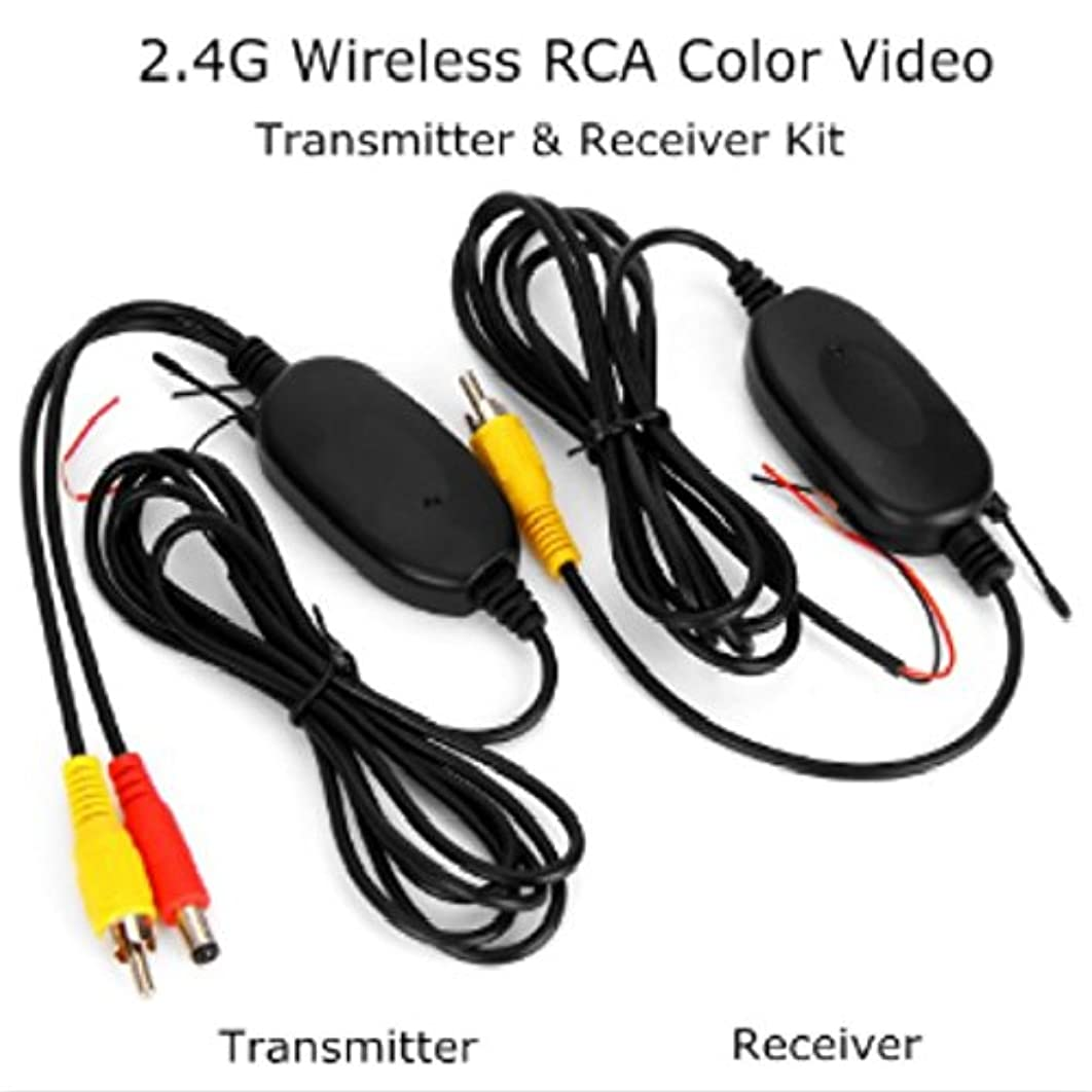 Louis Yield Best selling 2.4G Wireless RCA Color Video Transmitter and Receiver Kit for Vehicle Backup Cameras Car Rear View Monitors