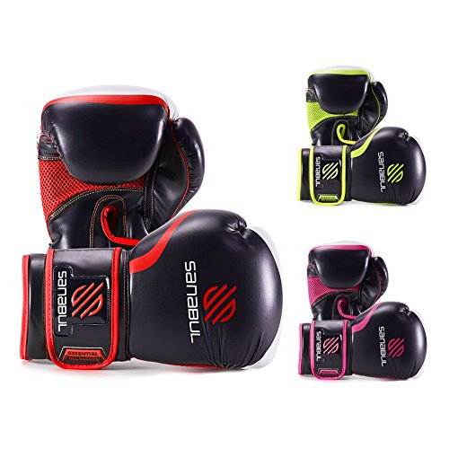 Essential Boxing Gloves Red 14-oz